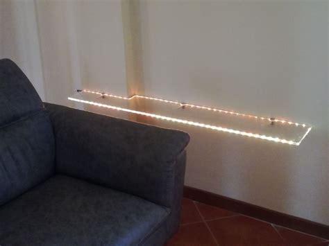 mensola con luce arredamento vetreria s i l v s r l