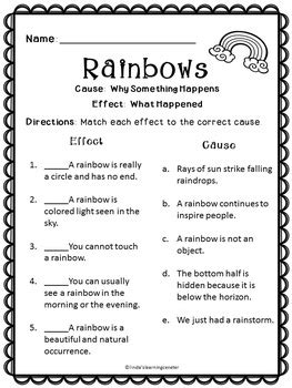 reading comprehension rainbows  lindas learning
