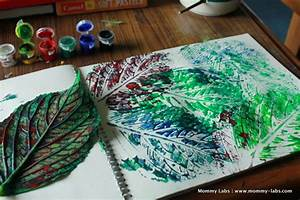 Art, Printing, Stamping Ideas with Leaves for Kids