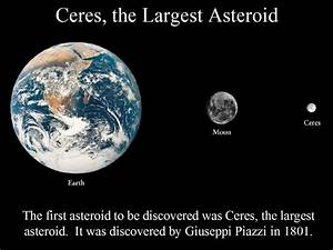 Ceres, the Largest Asteroid
