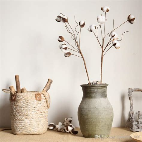 2021 Cotton Stems Farmhouse Decoration Floral Picks Rustic