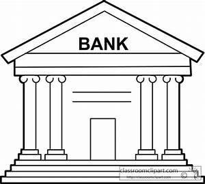 Architecture : money _bank_outline_213 : Classroom Clipart