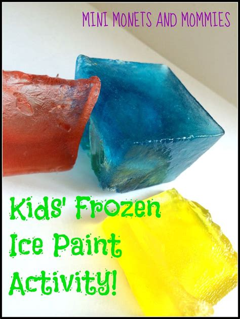 frozen primary color paint for make abstract by