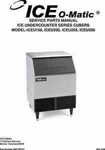 Ice O Matic Iceu200 Users Manual Iceu 150 200 205 206