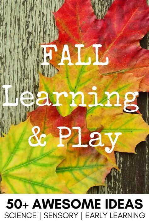 fall sensory play activities  fall preschool theme ideas