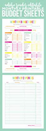 Sle Of Budget Sheet by Editable Budget Worksheets Printable Crush