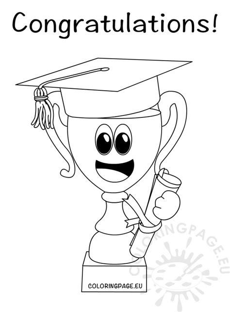congratulations graduate trophy cup  hat graduation