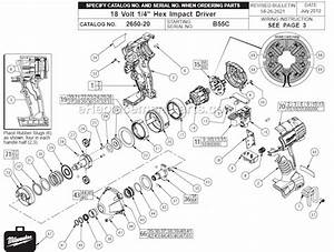 Milwaukee 2650-20 Parts List And Diagram