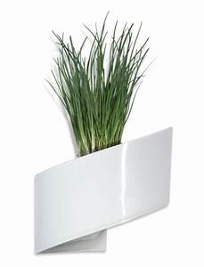 Pot De Fleur Design Interieur : pot de fleurs mural blanc brillant 16cm green turn bac ~ Premium-room.com Idées de Décoration
