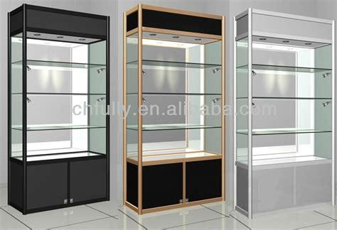 lockable glass display cabinets showroom modern glass