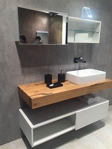 Meuble Avec Plan De Travail : plan de travail salle de bain en bois pour tous les styles ~ Dailycaller-alerts.com Idées de Décoration