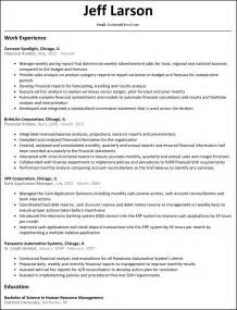 financial reporting analyst resume sle financial analyst resume resumesles net