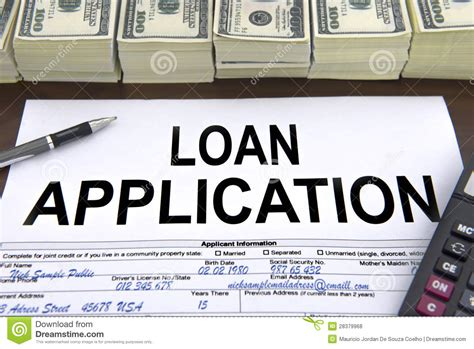 Approved Loan Application Form And Dollar Bills Stock