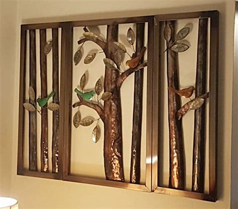Liven up any wall with this set of 3 modern style gold starburst wall decor sculptures. 3-Piece Trees & Birds Metal Wall Art Sculpture Rustic ...