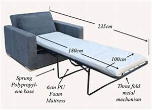 Sofa bed width 170cm refil sofa for Sofa bed dimensions unfolded