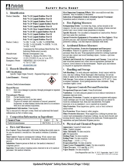 format safety data sheet word template ontario lung association