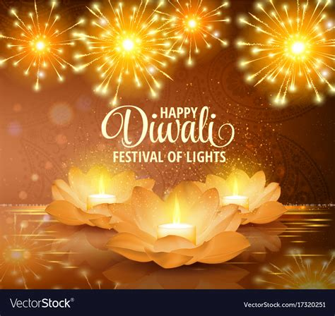 Diwali Festival Of Lights Picture by Happy Diwali Festival Of Light Background Vector Image
