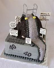 Over The Hill 40th Birthday Cake