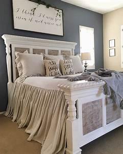 Grey Romantic Master Bedroom Ideas