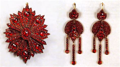 bohemian garnet jewelry czech republic farlang