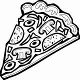 Pizza Coloring Animationsa2z Toppings sketch template