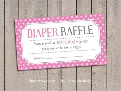 Baby Shower Diaper Raffle Tickets  Pink Baby Shower Diaper