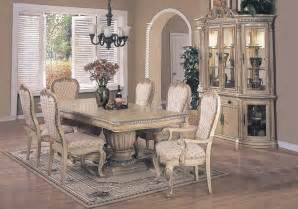 11 dining room set antique white finish contemporary dining set