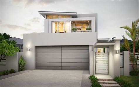 Narrow Block House Plans Wa Arts Small 2 Story Lot Home