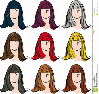 Hair Clipart Different Face Female Vector Royalty
