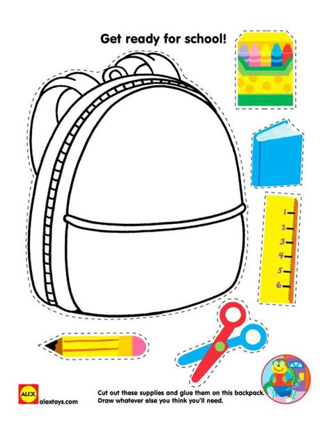 back to school printable cut and paste school supplies 491   1911b74b3094e015d9ac6eaf68071bee