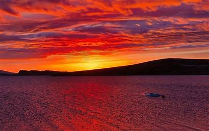 Sunset Lake Animated Iceland Cool Stuckincustoms Nature