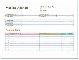 Informal Meeting Agenda Template Basic Meeting Agenda Template Formal Informal Meetings