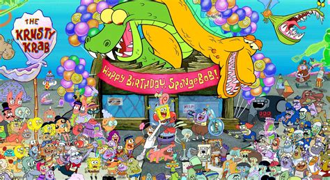 spongebob squarepants  nickelodeon  celebrating