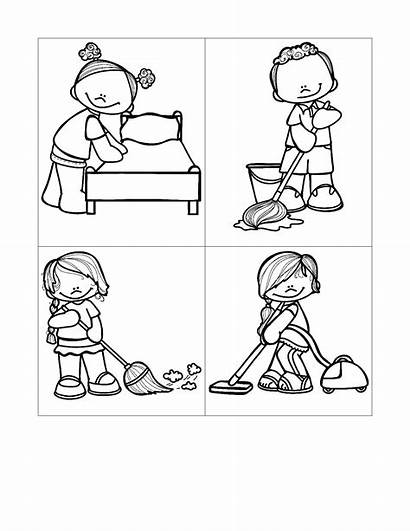 Chore Printable Cards Chores Help Activities Worksheets