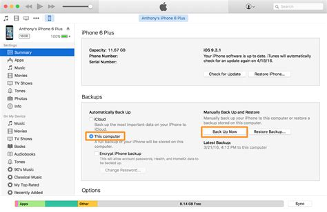 backup an iphone creating an iphone backup in itunes or icloud and why it