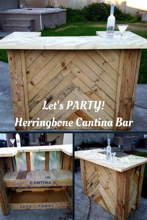 amazing herringbone pallet party bar  pallets