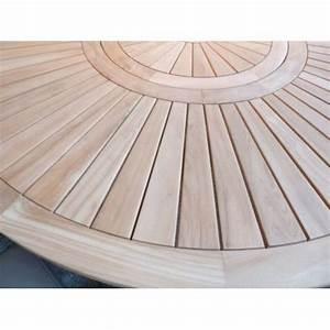 Table Ronde En Teck : tables on pinterest ~ Teatrodelosmanantiales.com Idées de Décoration