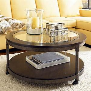 Exciting small glass coffee table style design home for Circular glass top coffee table