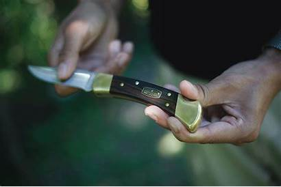 Knife Buck Folding Hunter
