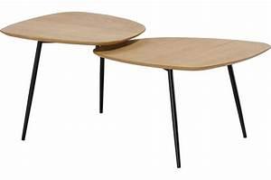 Table Basse Bois Scandinave : table basse scandinave double plateau bois extent table basse pas cher ~ Teatrodelosmanantiales.com Idées de Décoration