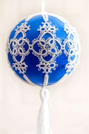 tatting christmas ornament patterns tatted blue ornament be stitched