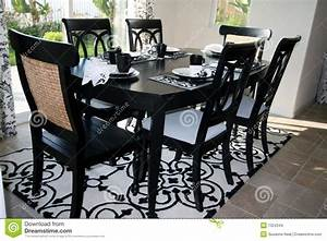 Dining Set In Black And White Stock Images - Image: 7324344