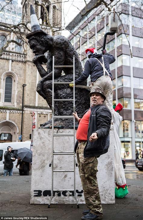 Banksy sculpture 'The Drinker' returned to Shaftsbury ...