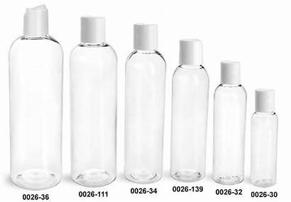 Plastic Bottle Bottles Clear Pet Caps Round
