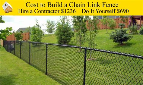cost of fencing how much does black chain link fence cost installed madisonblogs