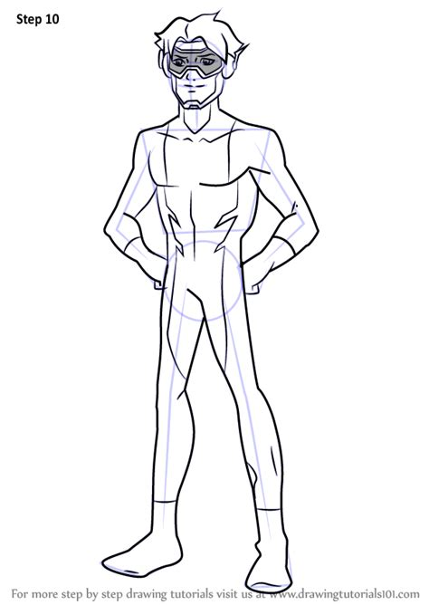 learn   draw impulse  young justice young justice step  step drawing tutorials
