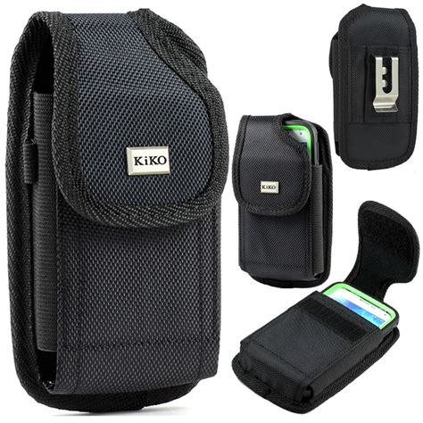 universal vertical velcro flip phone pouch with belt