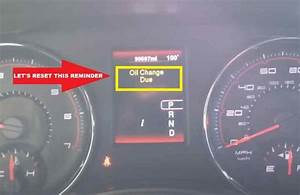 How To Reset  Dodge Charger Oil Change Due Reminder