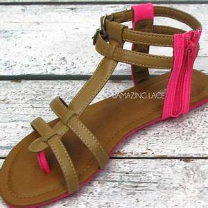 Pop That Color Neon Pink & Tan Strappy from Amazing Lace
