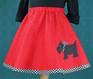 poodle skirt circle skirt retro poodle scottie With poodle skirt applique template